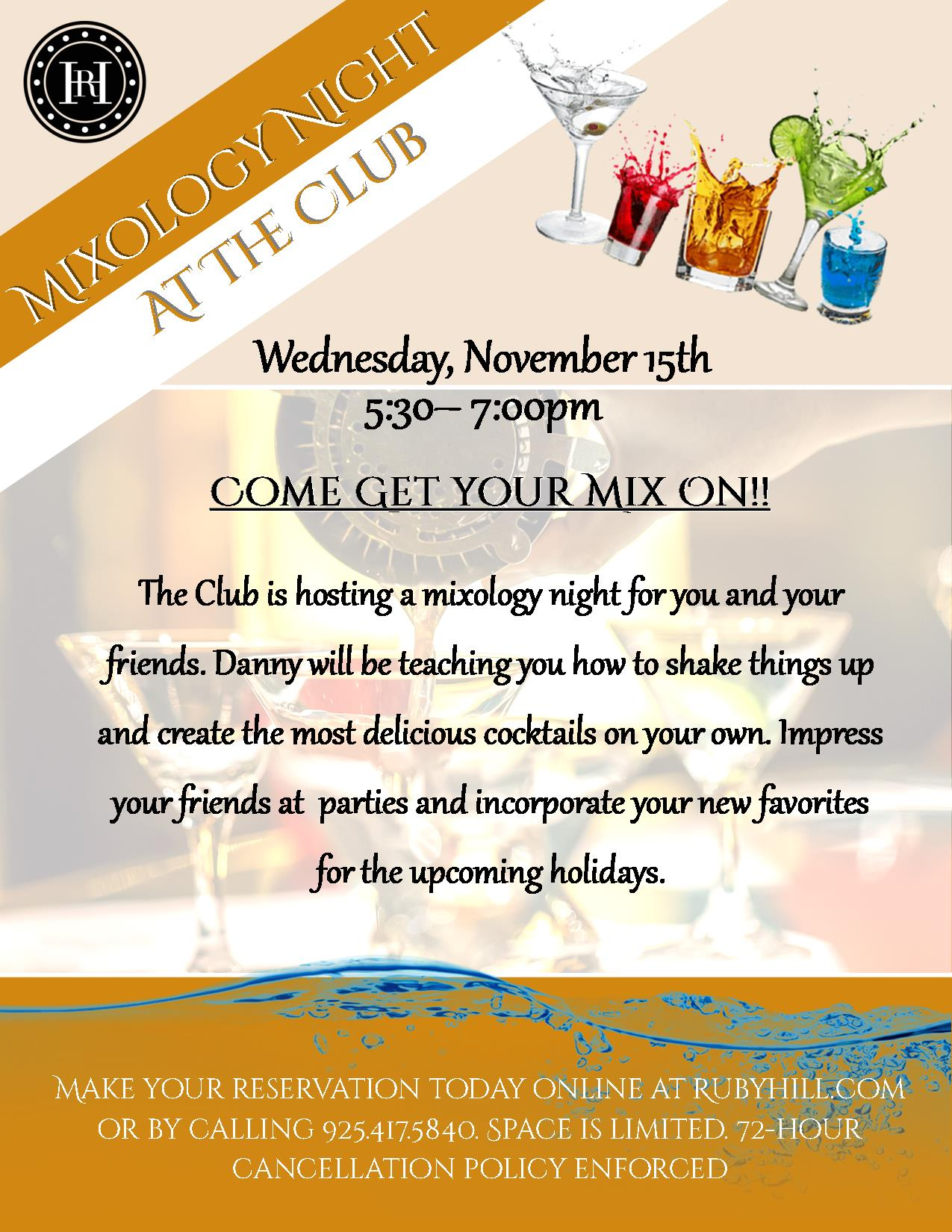 Mixology Night 2017 The Club At Ruby Hill 2017 11 15