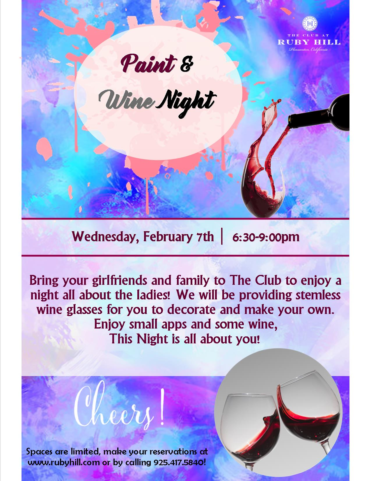 Paint & Wine Night | The Club at Ruby Hill | 2018-02-07